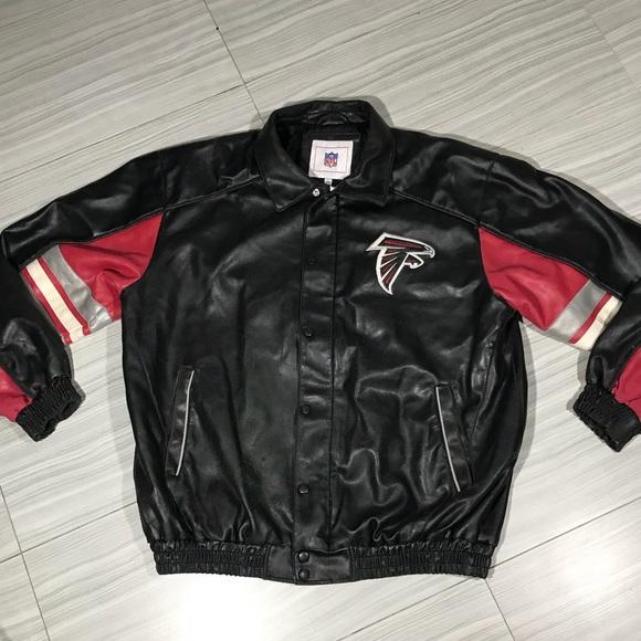 a1ac9b5a NFL Atlanta Falcons Leather Jacket Size XL